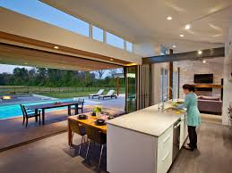 Patio Kitchen Interior Beautiful Bifold Doors For Functional And Efficient