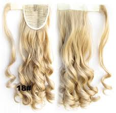 Pony Wrap Hair Extension by Ponytail Hair Extension Heat Proof Synthetic Wrap Around Invisable