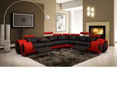 Modern Reclining Sectional Sofas by Dreamfurniture Com Divani Casa 4087 Modern Bonded Leather