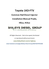 toyota 1kd ftv common rail diesel injector installation manual