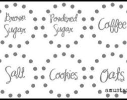 kitchen canister labels etsy