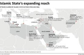 Kuwait On A Map Isis Wanted To Strike Beyond U0027caliphate U0027 Business Insider