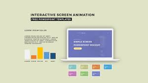 interactive screen animation powerpoint template infographicon