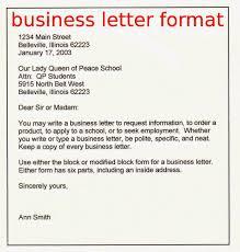 business letter heading the best letter sample