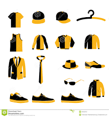design accessories set of men fashion clothing and accessories design vector and icon