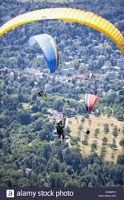 Merkur Baden Baden Paragliding At Mt Merkur Baden Baden Germany Stock Photo