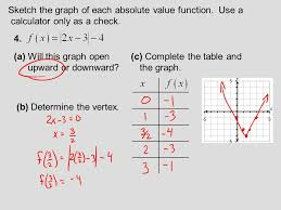 complete the table calculator section 8 3 absolute value functions 8 3 lecture guide absolute