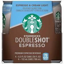 starbucks doubleshot vanilla light starbucks doubleshot espresso light premium coffee drink 4pk 6 5