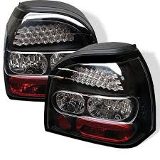 vw led tail lights vw golf 1993 1998 black led tail lights a103azru109 topgearautosport