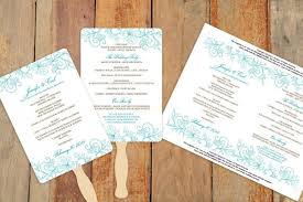 Diy Wedding Fan Programs Microsoft Word Program Templates Pacq Co