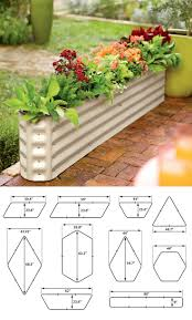 Galvanized Trough Planter by 32 Best Raised Beds U0026 Elevated Gardens Images On Pinterest