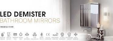 opulent design bathroom heated mirror hotel defogger cabinet kit