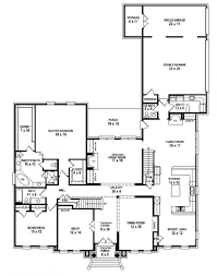 single floor home plans 5 bedroom one story house plan stupendous references house ideas
