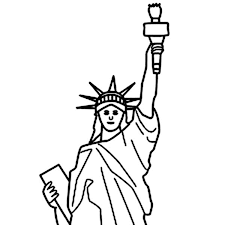 statue of liberty coloring page easy thewealthbuilding
