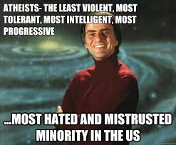 Intelligent Memes - atheists the least violent most tolerant most intelligent most
