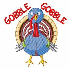gobble gobble turkey embroidery design annthegran