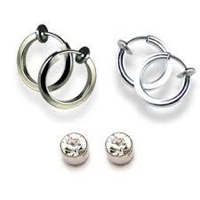non pierced earrings buy via mazzini silver metal clip on non pierced ears earring for