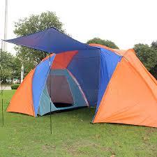 tente 4 chambres 220 430 175 cm 3 4 personne cing tentes étanche deux chambres