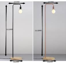 Wrought Iron Floor Lamps Black Red Copper Two Nordic Minimalist Modern Fashion Wrought