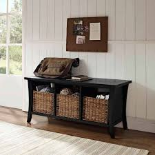 entryway bench with baskets and cushions black entryway bench with storage baskets cushions home ideas