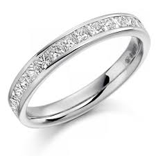 half eternity ring the raphael collection platinum 0 75ct princess cut diamond half