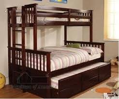 FABKF University Espresso Solid Wood TwinFull Bunk Bed With - Espresso bunk bed