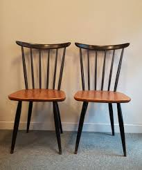 pair of scandinavian chairs with bars 1960s design market