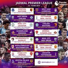 Jadwal Liga Inggris Jadwal Siaran Langsung Liga Inggris 13 19 Mei 2017 Chelsea Juara