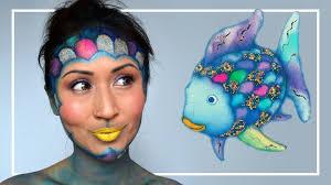 rainbow fish makeup tutorial shelingbeauty