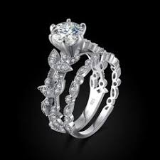 Unique Wedding Rings For Women by Unique Leaf Design 925 Sterling Silver White Gold Plated Women U0027s