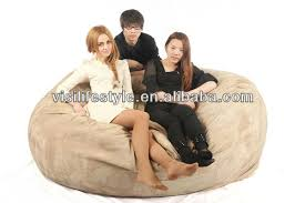 comfortable 3 seaters 7ft sleeping round memory foam filled bean