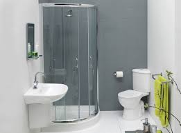 astonishing small bathroom design plans with curved glass shower