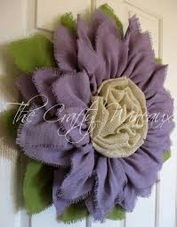 burlap flowers light violet burlap sunflower wreath the crafty wineaux
