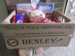 personalised christmas eve box wooden christmas crate small apple