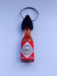 ketchup keychain tabasco sauce keychain