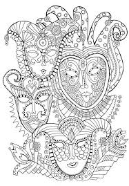 coloring pages carnival