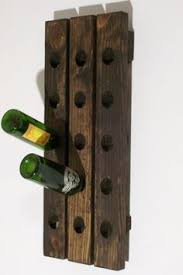 riddling wine rack handcrafted wood wall hanging by wood4decor