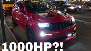 jeep srt modified hellcat jeep killer whippled built motor and cammed jeep srt