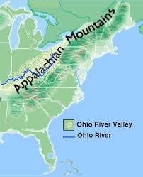 america map ohio the ohio river valley