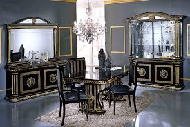 China Cabinet And Dining Room Set Rossella Italian Classic Black Corner China Cabinet