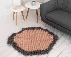 small round rug etsy