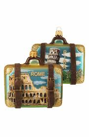 image nordstrom at home handblown glass travel suitcase