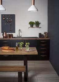 cuisine noir mat et bois cuisine noir mat et bois élégance et sobriété kitchens wall