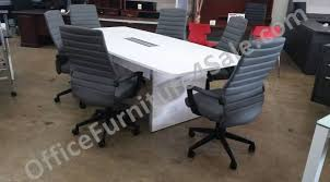 4 X 8 Conference Table Chiarezza 8 Ft Boat Shaped Conference Table With Brushed Aluminum