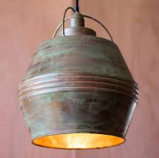 home decor hammered copper pendant light industrial looking