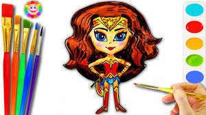 coloring pages of wonder woman how to draw wonder woman dc super hero coloring page for girls
