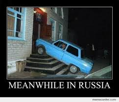 Russian Car Meme - meanwhile in russia by ben meme center