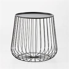 table basse bout de canapé bout de canapé ou table basse cage en fil métal 79 shopping