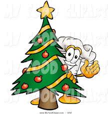 food clip art of a festive white chefs hat mascot cartoon