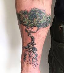 inner forearm mens cool olive tree with roots tattoo ideas tree